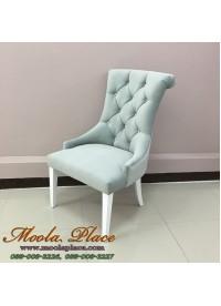 เก้าอี้อาร์มแชร์ หลังขมวด  หุ้มกำมะหยี สามารถเลือกเปลี่ยนผ้าหรือหนังบุุได้