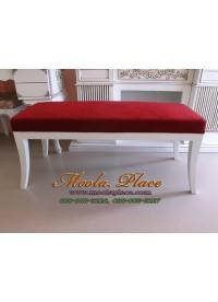 เก้าอี้ยาว/สตูลปลายเตียง บุผ้ากำมะหยี่ ขนาด 120 ซม.