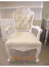 เก้าอี้ขาสิงห์หลุยส์ไม้สัก บุหนัง PU อย่างดี ลูกค้าสามารถเลือกเปลี่ยนผ้าหุ้มได้