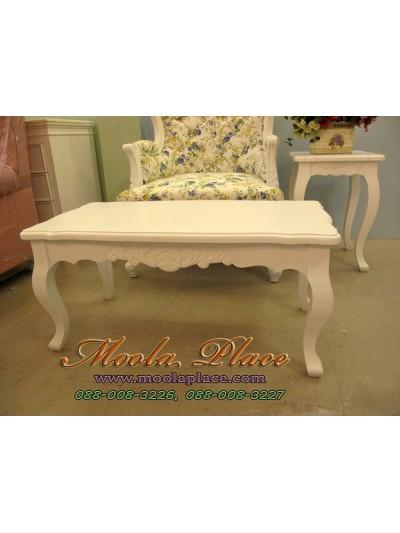 โต๊ะกลาง แกะลายสวยงาม  ขนาด กว้าง 90 ลึก 45 สูง 45 ซม.