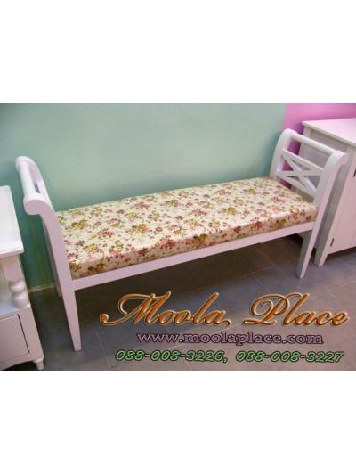 เก้าอี้ยาว/สตูลปลายเตียง ขนาด 140x40x73 พร้อมเบาะนั่ง สามารถเลือกเปลี่ยนผ้าหุ้มเบาะได้