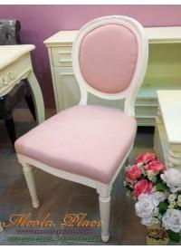 เก้าอี้ทรงหลังไข่ แกะลายกุหลาบ สไตล์วินเทจ หุ้มกำมะหยี่ สามารถเลือกหลายเฉดสี