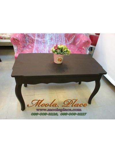 โต๊ะกลางชุดรับแขก สีโอ๊ค สไตล์วินเทจ ขนาด กว้าง 90 x ลึก 45 x สูง 50 ซม.