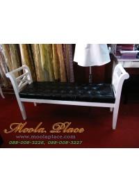 เก้าอี้ยาว/สตูลปลายเตียง หุ้มหนัง PU เย็บกระดุม ขนาด 140x40x73  สามารถเลือกเปลี่ยนผ้าหุ้มเบาะได้