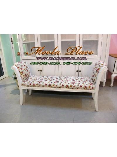 เก้าอี้ยาว/สตูลปลายเตียง ขนาด 140x40x73 หุ้มแขนและที่นั่ง สามารถเลือกเปลี่ยนผ้าหุ้มเบาะได้