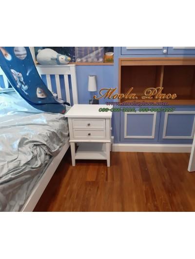 ตู้หัวเตียง 2 ลิ้นชัก มีที่พักวางของ ขนาด 45*40*60 ซม