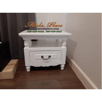 ตู้หัวเตียง / โต๊ะข้าง ขนาด 1 ลิ้นชัก มีที่วางพักของ ขนาด 55*45 สูง 50 ซม