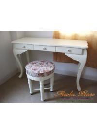 โต๊ะทำงานขาสิงห์สไตล์วินเทจ 3 ลิ้นชัก ขนาด 120  x 50 x 75 ซม.