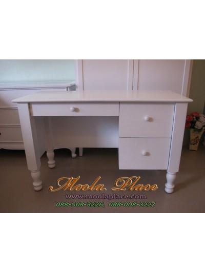 โต๊ะทำงานขากลึง 3 ลิ้นชัก ขนาด 120  x 50 x 75 ซม.