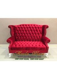 โซฟา Wing Chair ขนาด 150 ซม. ปีกโค้ง ขาสิงห์ ตอกหมุด สวยหรู