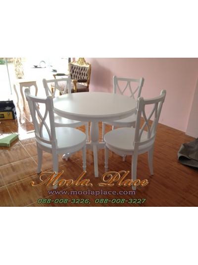 โต๊ะรับประทานอาหารทรงกลม ขนาดเส้นผ่าศูนย์กลาง 120 ซม. สูง 75 ซม.