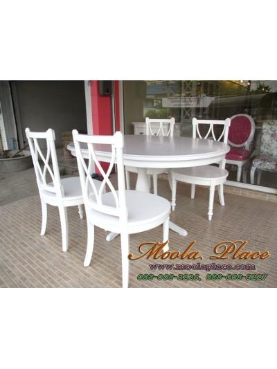 โต๊ะรับประทานอาหารทรงวงรี ขนาด 150 x 100 x 75 ซม.