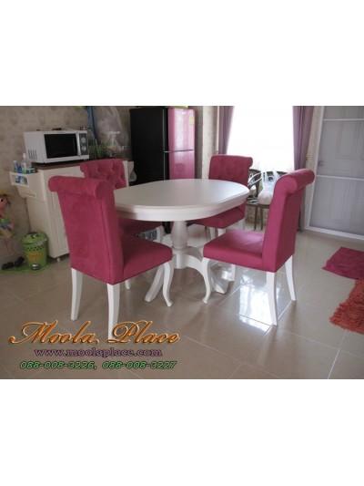โต๊ะรับประทานอาหารทรงวงรี ขนาด 120 x 80 x 75 ซม.