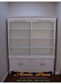 ตู้หนังสือสไตล์วินเทจ ขนาด กว้าง 150 ลึก 35 สูง 190 ซม.