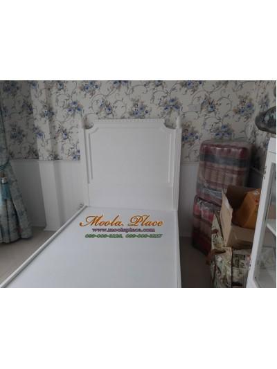 เตียงนอนขากลึงสไตล์วินเทจ แกะสลักลายสวยงาม หัวเตียงและท้ายเตียง ขนาด 3.5 ฟุต