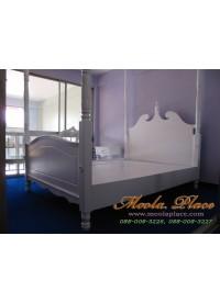 เตียงนอน มีเสาพร้อมคานไว้ใส่ม่าน ขนาด 5 ฟุต