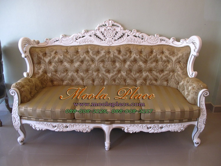 โซฟาหลุยส์โอบใหญ่ขนาด 3 ที่นั่ง ไม้สัก แกะลายสวยงาม ทำสีขาวเดินเงิน ดึงกระดุม ลูกค้าสามารถเลือกเปลี่ยนผ้าหรือหนังในการหุ้มได้เก้าอี้ขาสิงห์หลุยส์, เฟอร์นิเจอร์หลุยส์, เก้าอี้วินเทจ, เก้าอี้ขาสิงห์, เก้าอี้สไตล์วินเทจ, เฟอร์นิเจอร์วินเทจ, เฟอร์นิเจอร์วินเทจหลุยส์, เฟอร์นิเจอร์สีขาว, เฟอร์นิเจอร์สไตล์วินเทจ