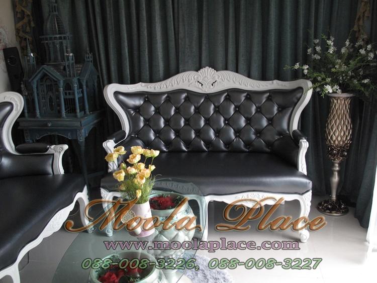 เก้าอี้โซฟาหลุยส์ 2 ที่นั่ง ชุดโซฟาหลุยส์โอบแคททรียา