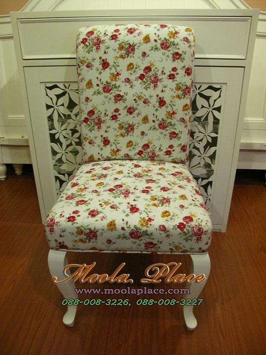 เก้าอี้ขาสิงห์หลุยส์ ทรงหัวใจ แกะลายสวยงาม บุผ้ากำมะหยี่ สามารถเลือกเปลี่ยนสีผ้าได้ เฟอร์นิเจอร์วินเทจ เก้าอี้วินเทจ สีขาว