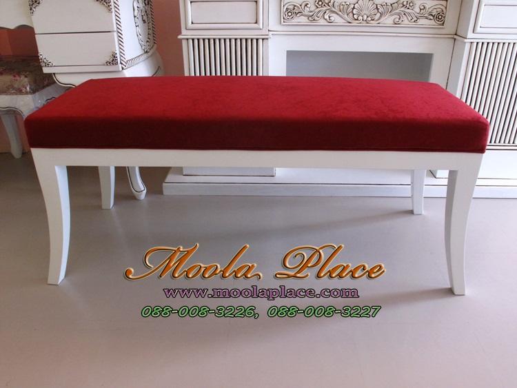 เก้าอี้ยาว/สตูลปลายเตียง  เก้าอี้ยาว/สตูลปลายเตียง บุผ้ากำมะหยี่ ขนาด 110 ซม.