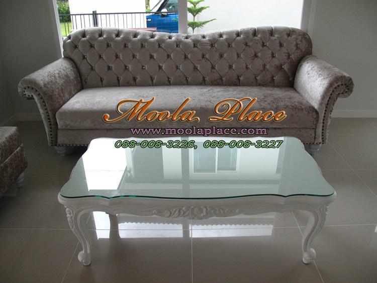 โต๊ะกลางสไตล์วินเทจหลุยส์ แกะลายสวยงาม