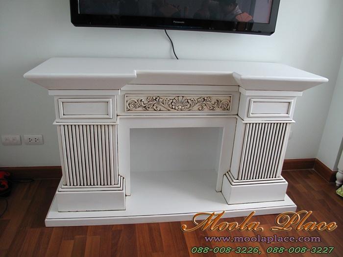 ชั้นวางทีวีทรงเตาผิง Fireplace