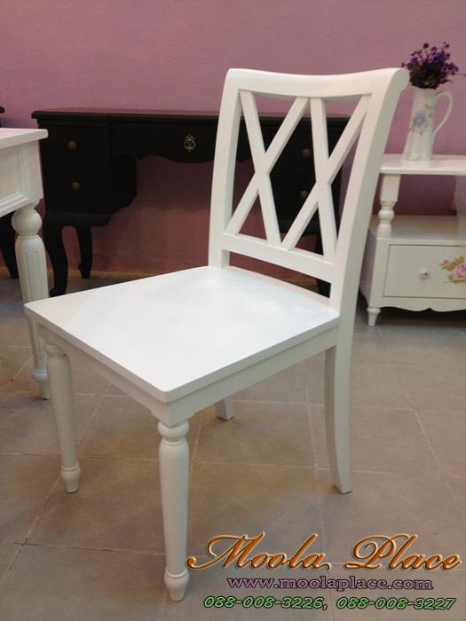 เก้าอี้สีขาววินเทจ โต๊ะรับประทานอาหาร  สีขาวสไตล์วินเทจ