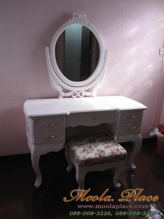 โต๊ะเครื่องแป้งสีขาวโต๊ะเครื่องแป้งเจ้าหญิง