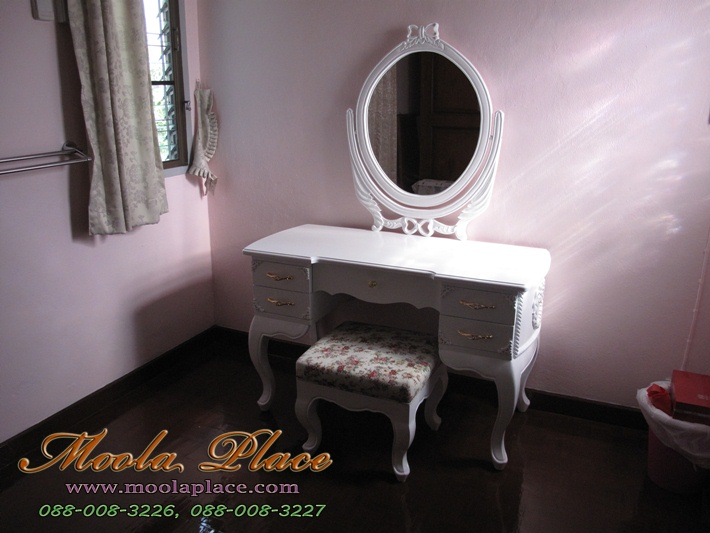 โต๊ะเครื่องแป้งสีขาว, เฟอร์นิเจอร์วินเทจ, เฟอร์นิเจอร์, เฟอร์นิเจอร์สีขาว,โต๊ะเครื่องแป้งเจ้าหญิง