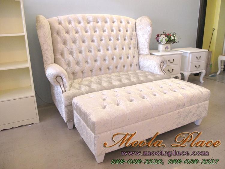 โซฟา Wing Chair โซฟาวินเทจ โรงงานโซฟา รับผลิต