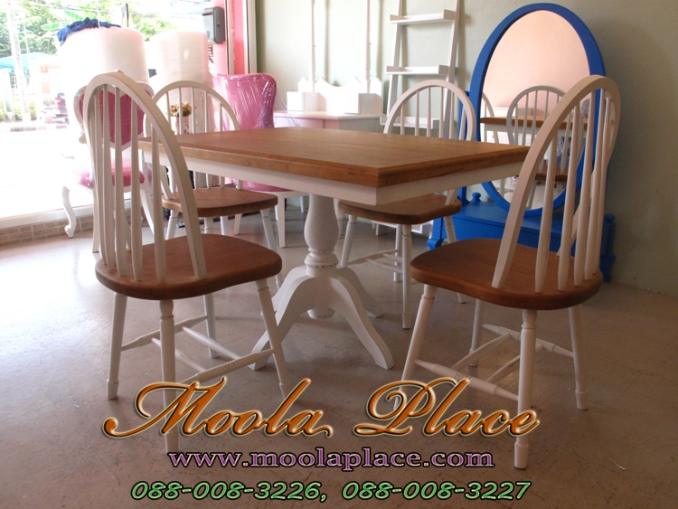 โต๊ะรับประทานอาหาร 4 ทาน สไตล์วินเทจ เก้าอี้ราคาถูก