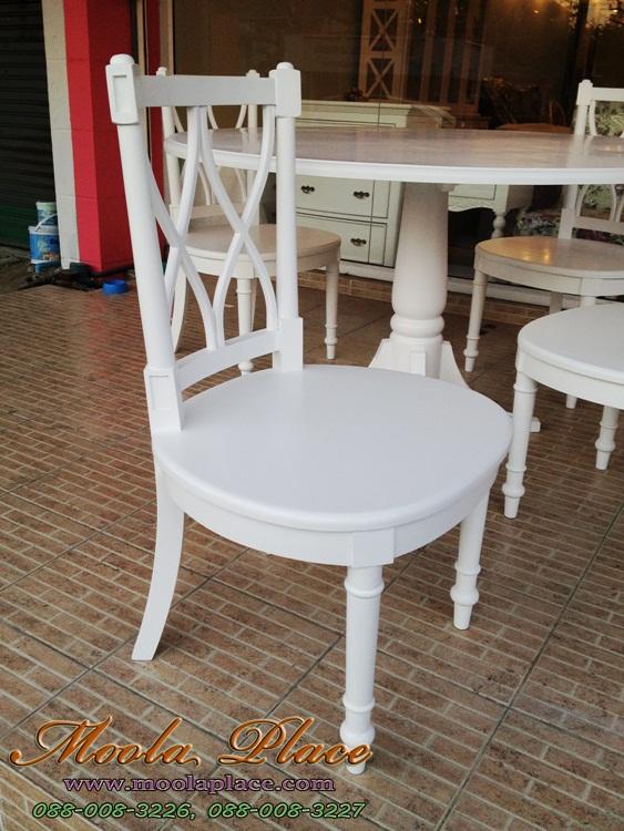 โต๊ะรับประทานอาหารทรงกลม แกะลายสไตล์หลุยส์  วินเทจ