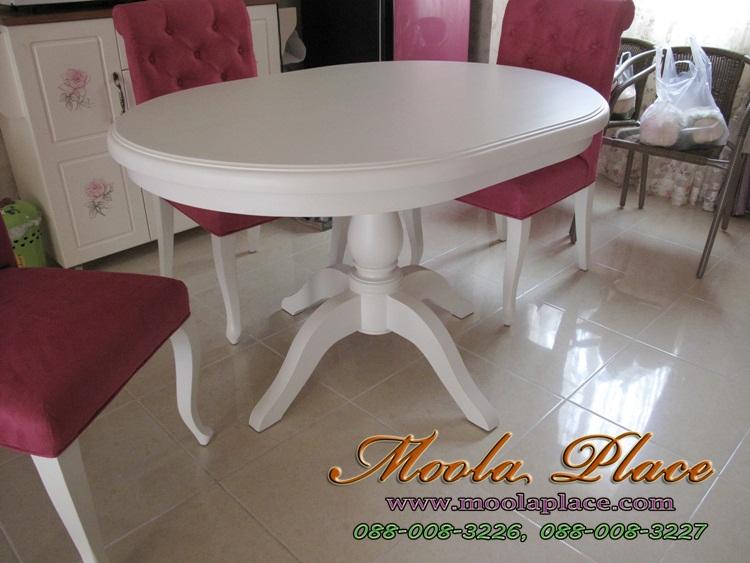 โต๊ะรับประทานอาหารวินเทจ โต๊ะรับประทานอาหารทรงวงรี โรงงานเฟอร์นิเจอร์ดีๆ