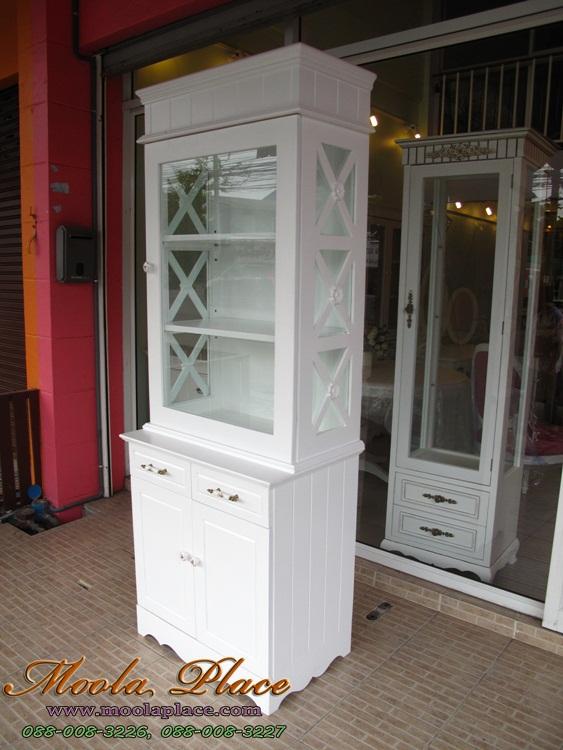 ตู้โชว์สีขาว ตู้โชว์แบบต่างๆ สไตล์วินเทจ โรงงานผลิตตู้โชว์ แต่งคอนโดให้สวย