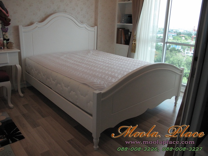เตียงนอนสไตล์วินเทจ เตียงนอนสไตล์วินเทจสีขาวตียงนอนสไตล์วินเทจ , เตียงนอนสีขาว  เตียงวินเทจ เตียงนอนสีขาว